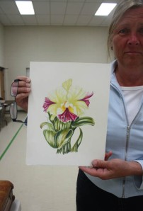 Student showing Orchid project