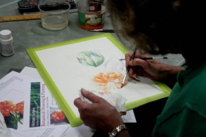Cathy working on her Zinnia 2